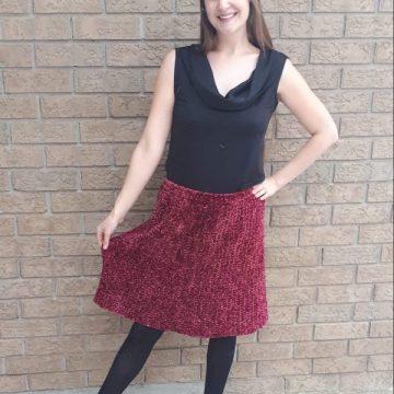 Crochet Velvet Skirt: Free Crochet Pattern by Shabby Sheep Apparel on ECLAIREMAKERY.COM #crochetskirt #crochetskirtpattern #freecrochetpattern