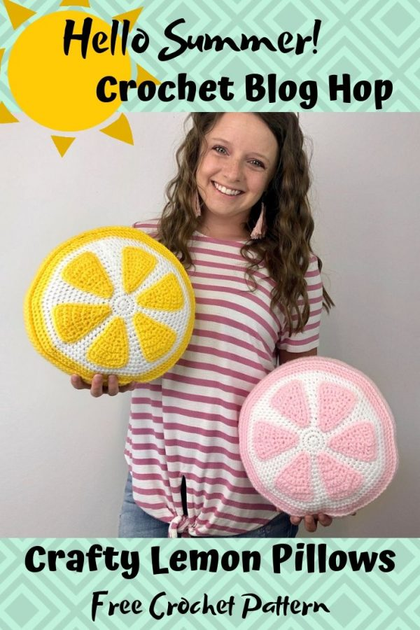 Crafty Lemon Pillows by Ashley from A Crafty Concept