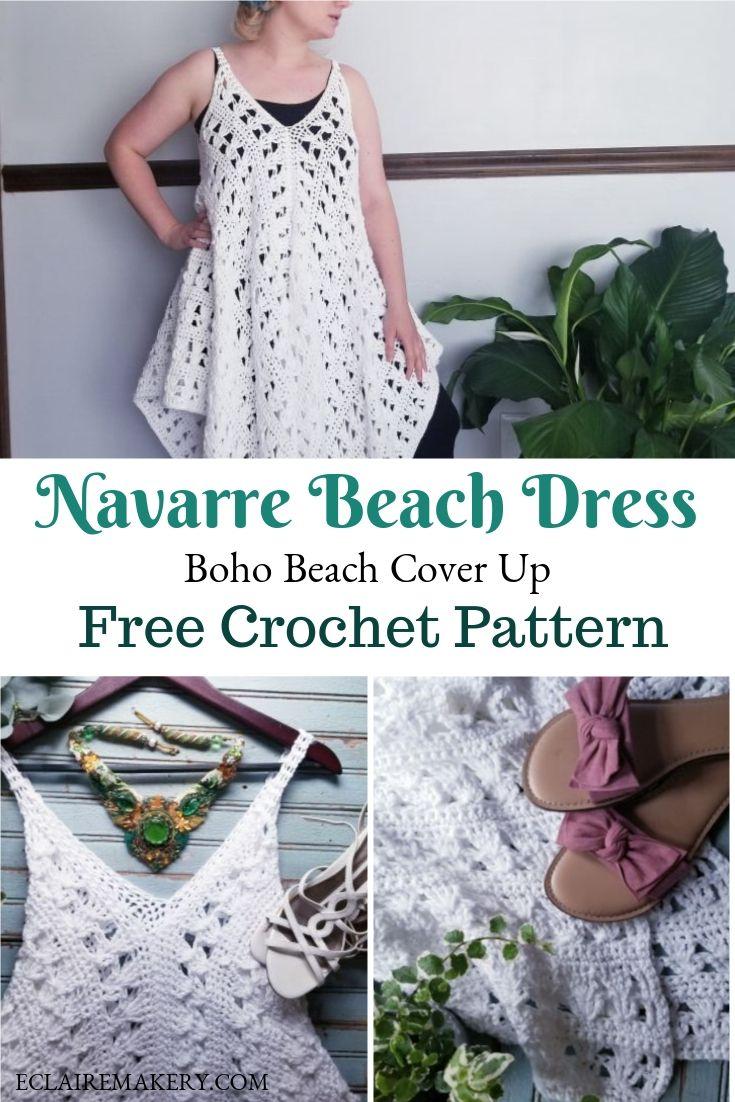 Naverre Crochet Beach Dress Free Pattern E Claire Makery