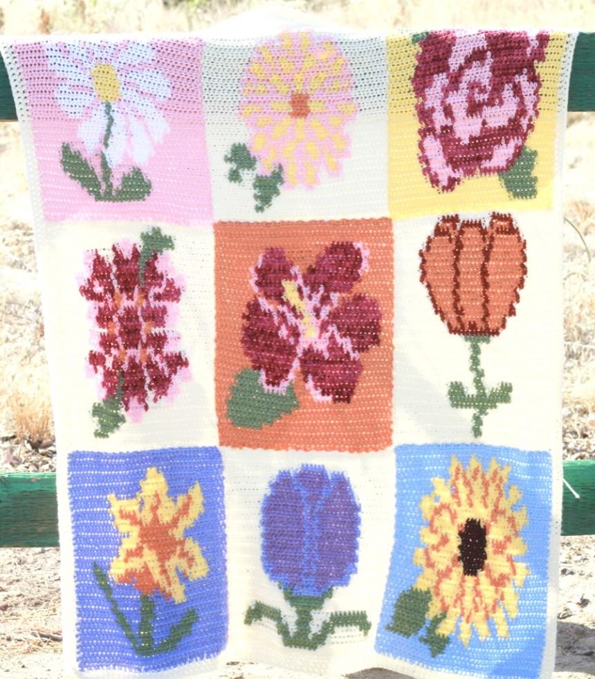 May Flowers Blanket: Free Tapestry Crochet Flower Blanket