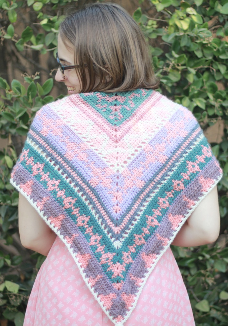 Happily Ever After Shawl: Free Tapestry Crochet Pattern
