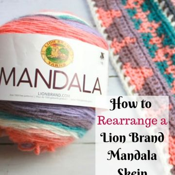 How to Organize Colors on a Lion Brand Mandala Skein