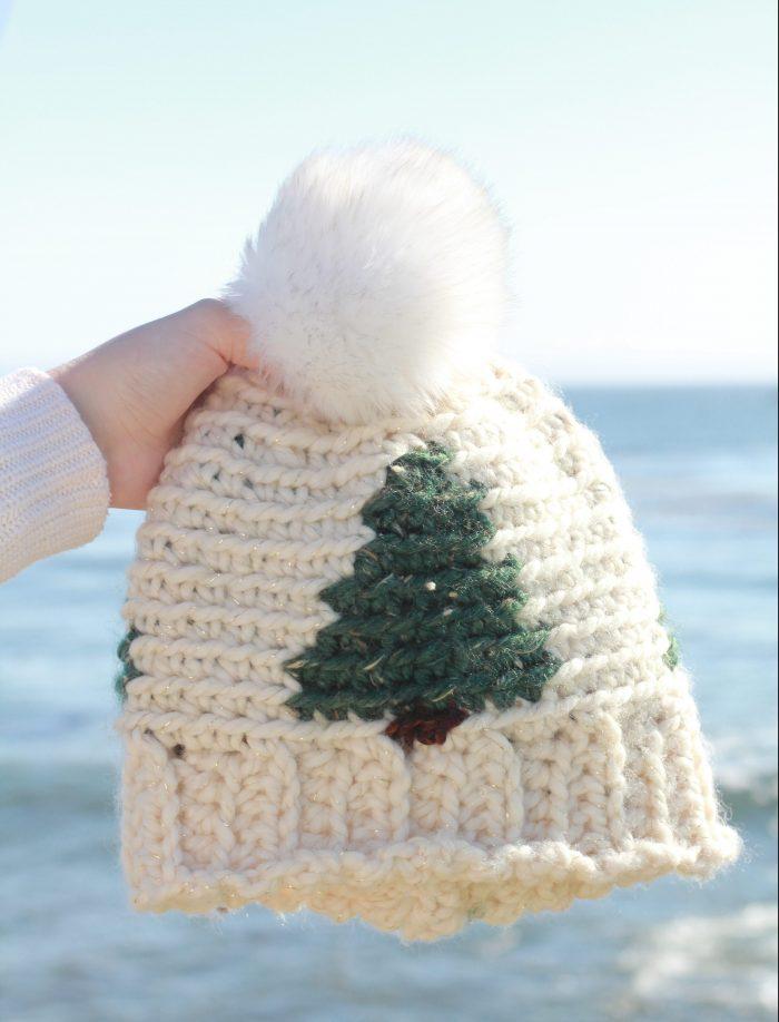 Pinewood Beanie: Free Crochet Hat Pattern