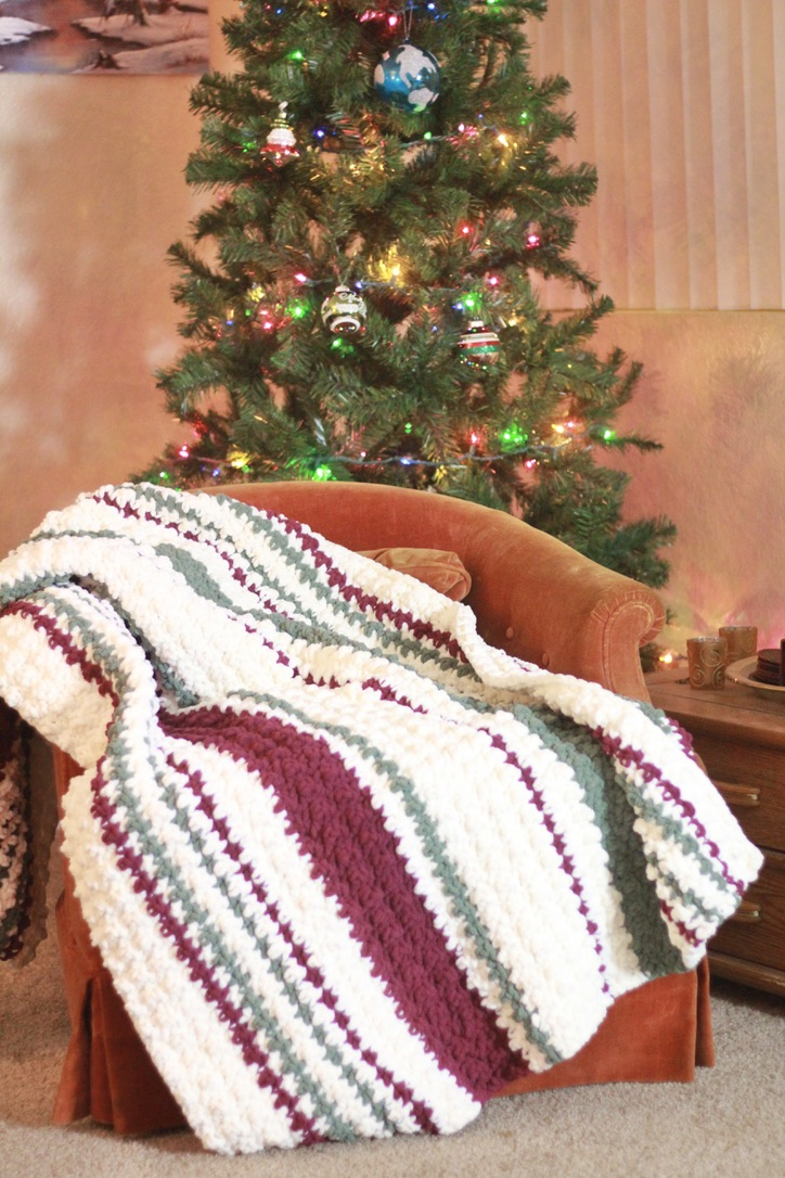 Ribbon Candy Blanket: Quick and Easy Chunky Free Crochet Blanket Pattern