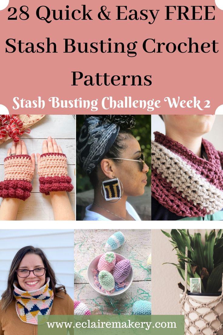 28 Easy and Free Stash Busting Crochet Patterns: Stash Busting Challenge Week 2