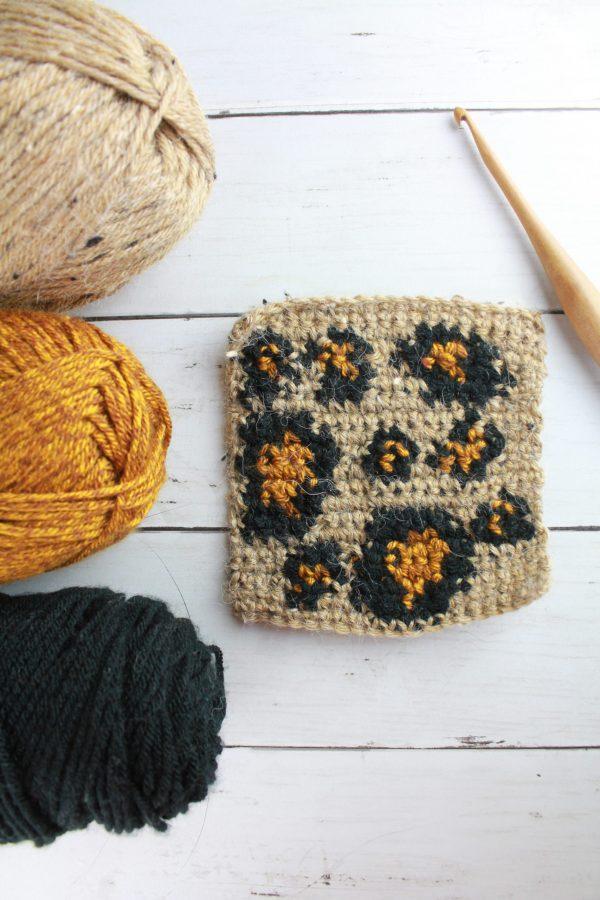 Leopard Stitch: Tapestry Crochet Stitch Pattern Tutorial