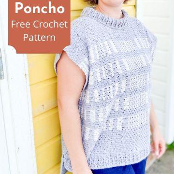 Barcode Poncho: Free Crochet Poncho Pattern
