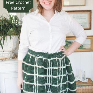 Your Everyday Plaid Skirt: Free Crochet Skirt Pattern