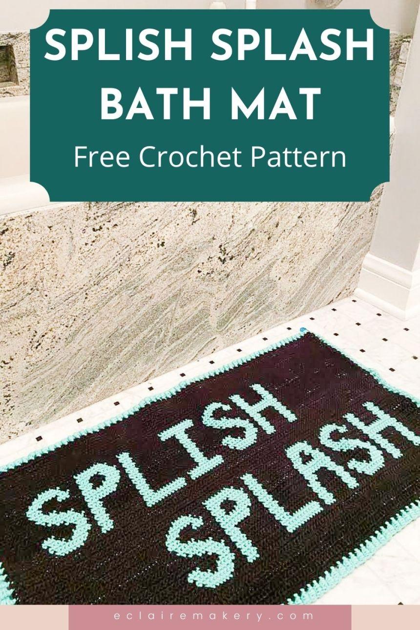 Splish Splash Bath Mat: Free Tapestry Crochet Rug Pattern