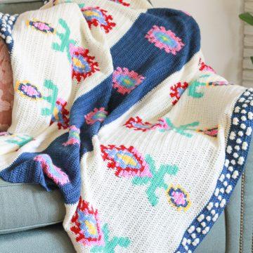 Midsummer Blanket: Intarsia Crochet Blanket Pattern