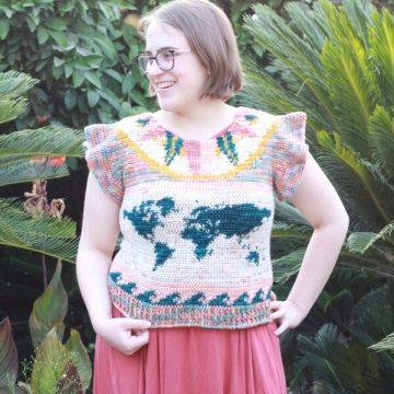 Adventure Tee: Tapestry Crochet Summer Top Pattern