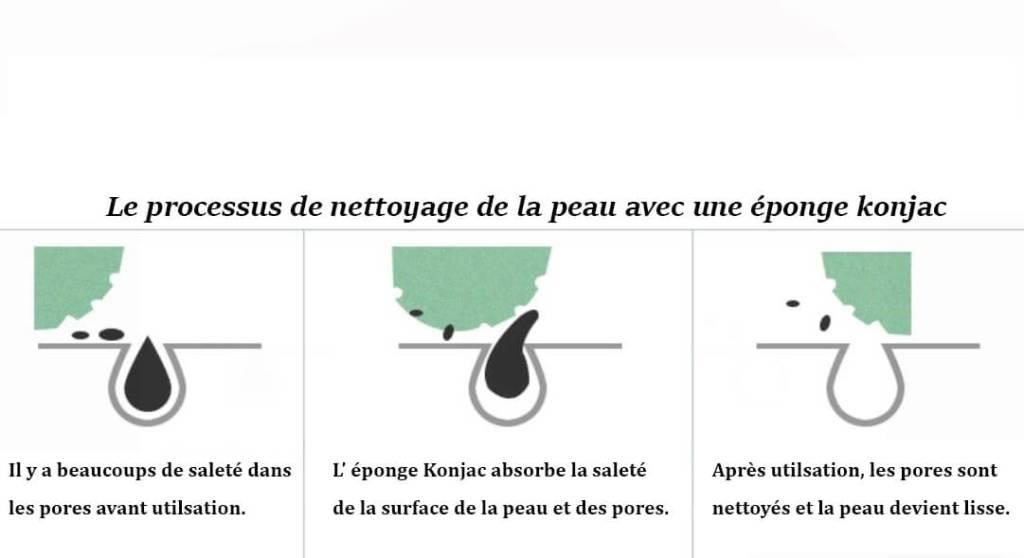 comment utiliser l'éponge konjac?
