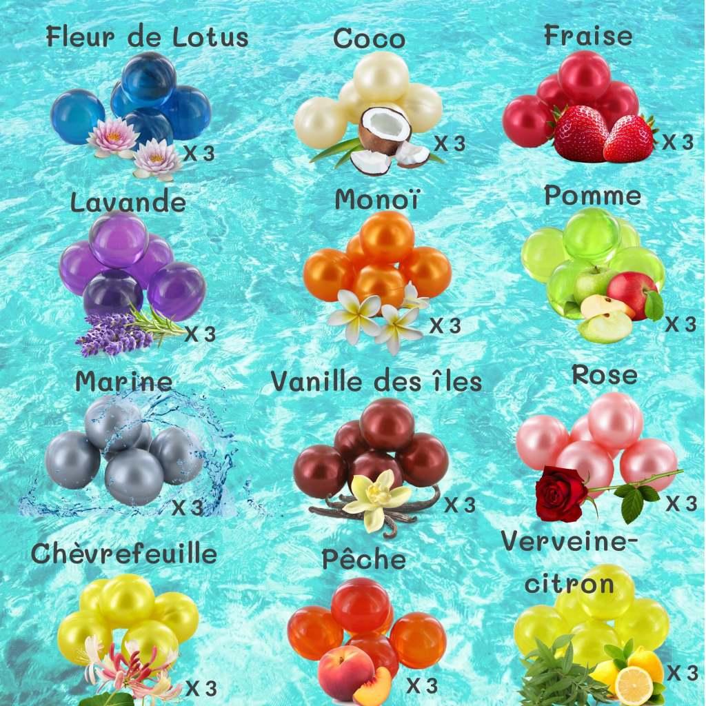 lot 36 perles de bain parfumées-Éclat de bulle