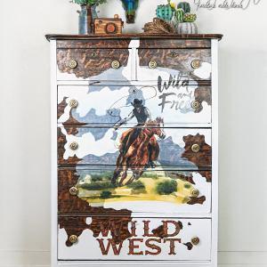 wild west cowboy dresser