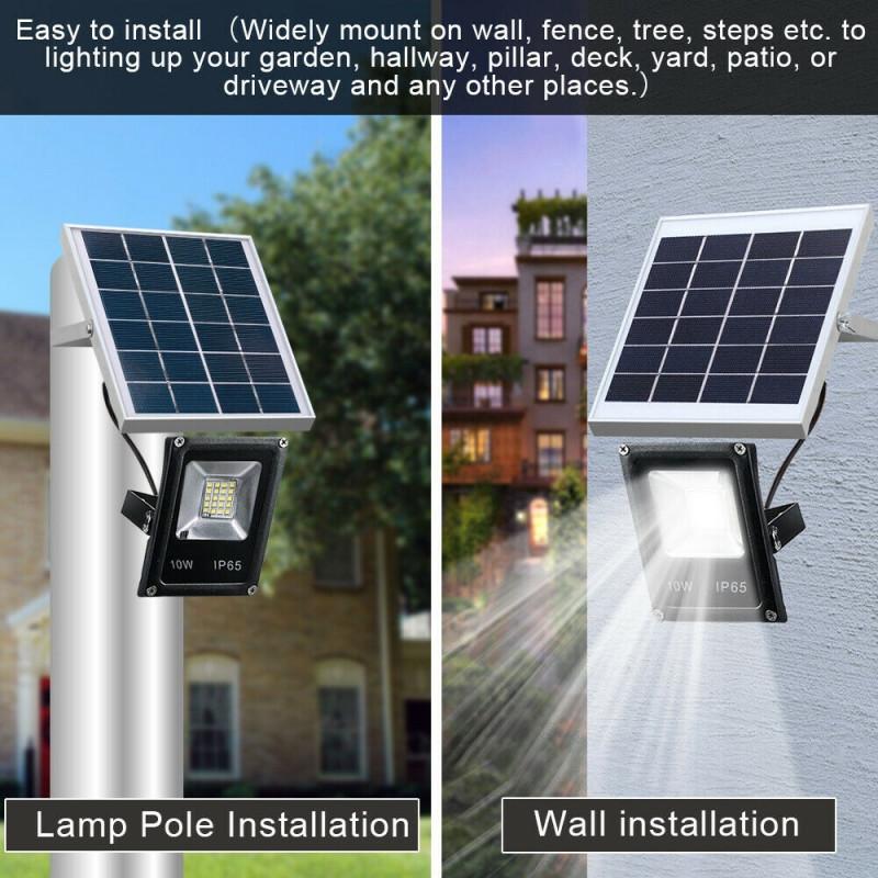 10w waterproof ip65 solar light led
