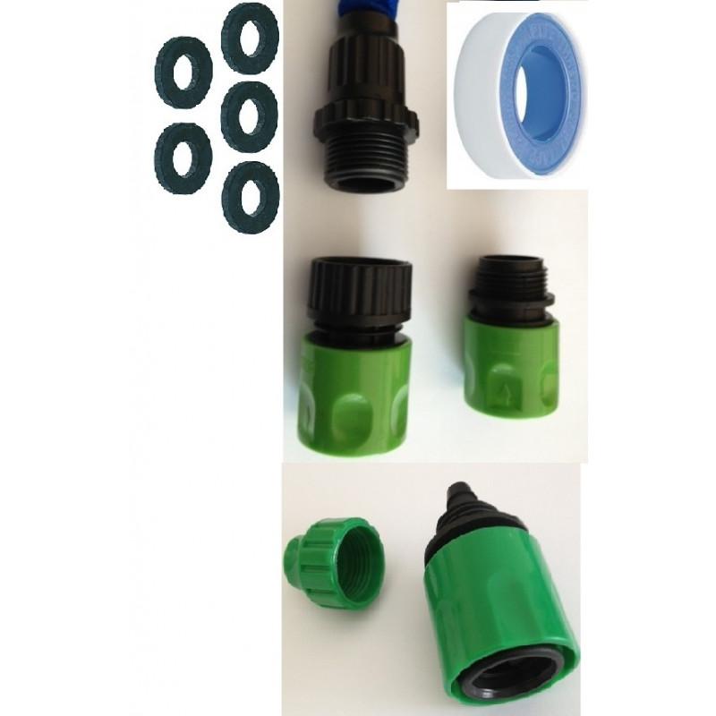 garden faucet adapter kit extension gardena c 5 o x teflon hose connection extensible hose eclats antivols