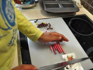 My little one helped me with the chopping