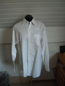 Men's button-down shirt before dyeing and refashioning