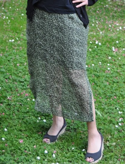 Sheer madness (Leopard sheer skirt refashion)