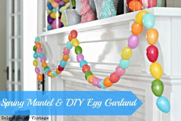 Make an Easter Egg Garland - so fun!  eclecticallyvintage.com