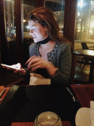 Candid, Fashion, Dining, Birthday Dinner, Style, Smiles, Embellished,
