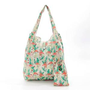 Beige Flamingos shopper