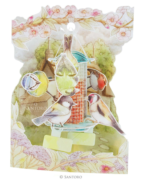 Santoro Garden Birds – 3D Pop-Up Swing Card