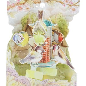 Santoro London Garden Birds - 3D Pop-Up Swing Card