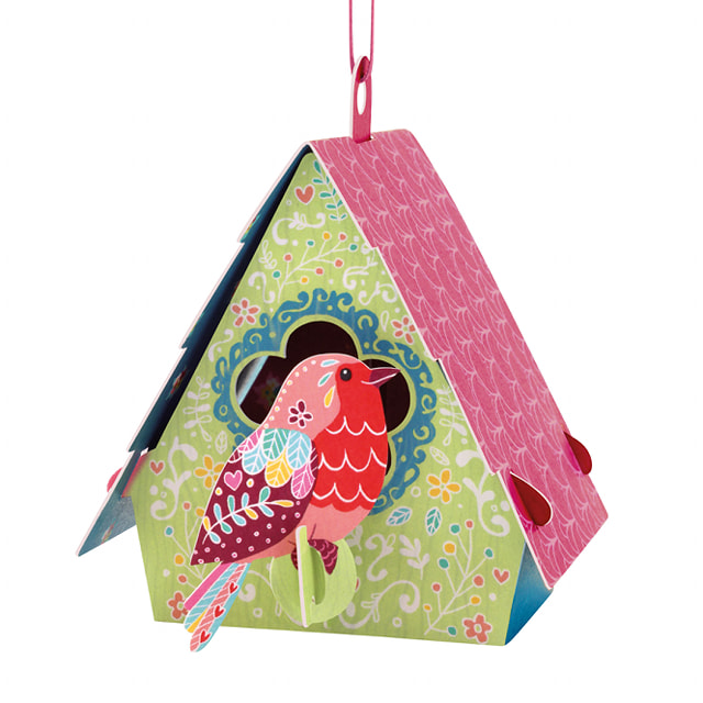 Santoro Bird House (Robin) – 3D Chandelier Card