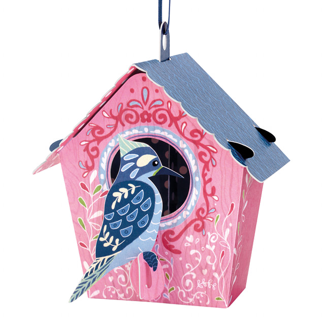 Santoro Bird House (Woodpecker) – 3D Chandelier Card