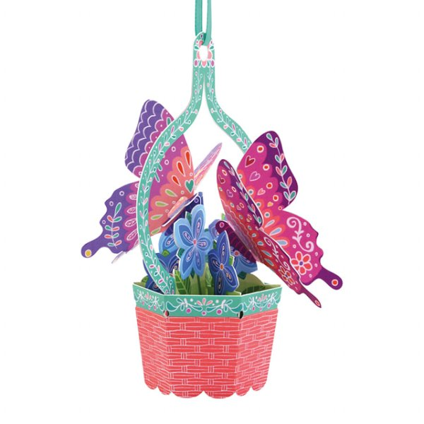 Santoro London - Butterfly Basket (Violets) - 3D Chandelier