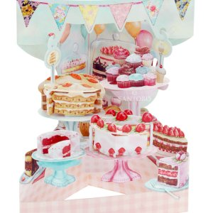 Santoro London Home Baked Cakes 3D Pop-Up Swing Card