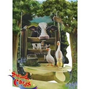 Santoro London Countryside - 3D Pop-Up Swing Card