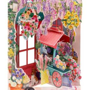 Santoro London Florist and Flower Cart - 3D Pop-Up Swing Card