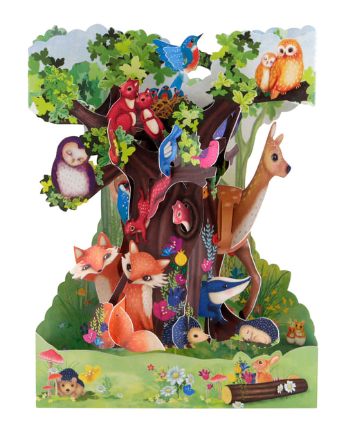 Santoro Forest Animals – 3D Pop-Up Swing Card