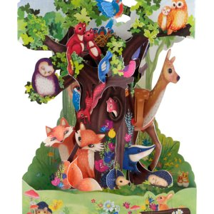 Santoro London Forest Animals - 3D Pop-Up Swing Card