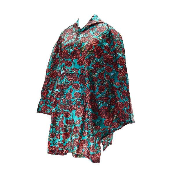 Green Rose Adult Foldable Poncho