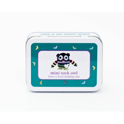 Gift in a Tin – Mini Sock Owl – Mini Tin