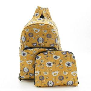 Mustard 1950's Flower Backpack