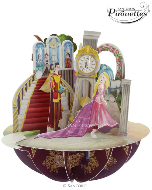 Santoro London – Princesses – 3D Pop-up Pirouette Card