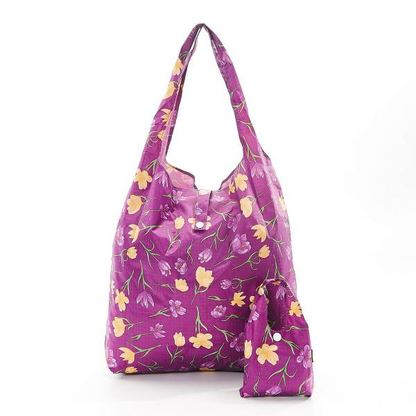 Purple Crocus Foldaway Shopper