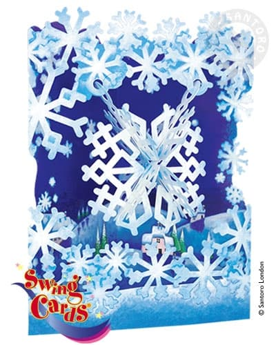 Santoro Snowflake – 3D Pop-Up Swing Card