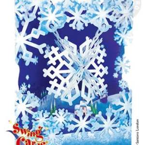 Santoro London - Snowflake- 3D Pop-Up Swing Card