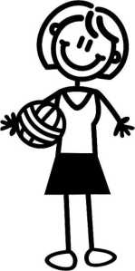 Mother with ball