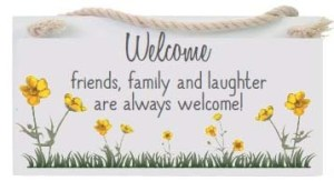 Welcome - Hanging Sign