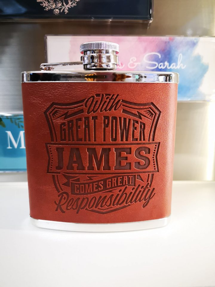 Top Bloke Hip Flask – James