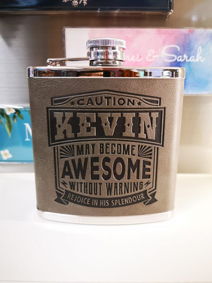 Top Bloke Hip Flask – Kevin