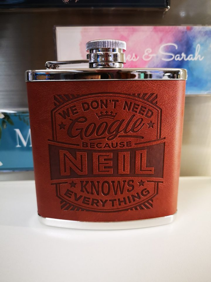 Top Bloke Hip Flask – Neil