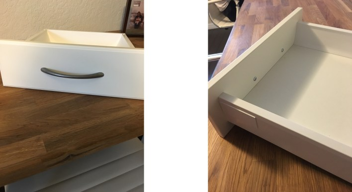 drawers together 1 handle
