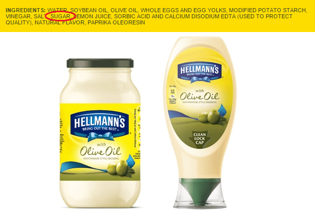 hellmans mayo - 5 days without sugar